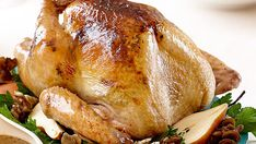 Piny juniper berries in a savory butter rub lend some West Coast flavor to this roast turkey, while they gravy gets its flavor and slightly chunky texture from a generous amount of fresh wild mushrooms. Be sure to let the bird warm up at room temperature before roasting so it cooks up juicy and tender.
