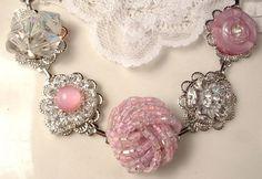 OneofaKind Vintage Dusty Rose Petal Pink Bead by AmoreTreasure, $41.99