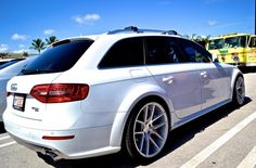 White Audi Allroad