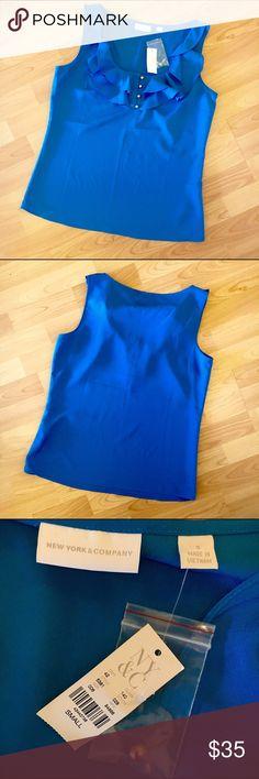 Royal Blue Blouse NWT NWT, classy royal blue blouse from New York & Company New York & Company Tops Blouses