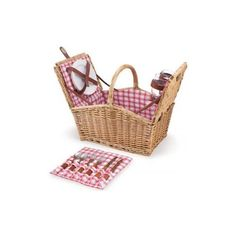 Piccadilly Willow Picnic Basket - Picnic Accessories - Entertaining - Outdoor   HomeDecorators.com, found on polyvore.com
