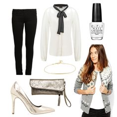 OneOutfitPerDay 2015-12-24 - #ootd #outfit #fashion #oneoutfitperday #fashionblogger #fashionbloggerde #frauenoutfit #herbstoutfit - Outfit des Tages Frauen Outfit Herbst Outfit Winter Outfit Pumps High Heels Marc O'Polo Armband TomShot Stoffhose Vero Moda Even & Odd O.P.I New Look Jack Wills