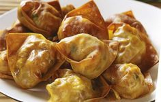 Wontons with ground turkey (oven baked