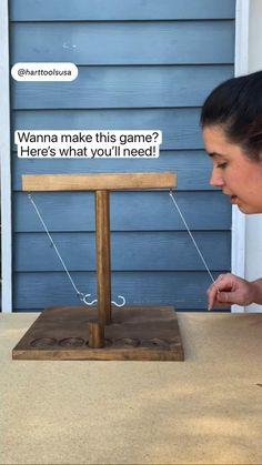 Diy Yard Games, Diy Games, Backyard Games, Outdoor Games, Outdoor Fun, Party Games, Outdoor Decor, Diy Wood Projects, Fun Projects