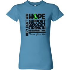 Bile Duct Cancer Hope Support Advocate Women's Fitted T-Shirt - Caribbean Blue | Cancer Shirts | Disease Apparel | Awareness Ribbon Colors