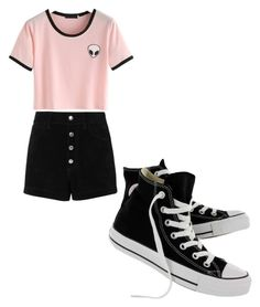"""Summer"" by lizzylyn on Polyvore featuring rag & bone/JEAN and Converse"