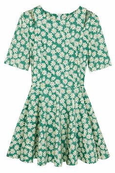 ROMWE | Floral Print Green Dress, The Latest Street Fashion #ROMWE