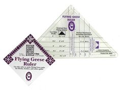 flying geese ruler instructions