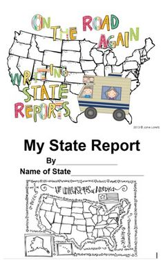 Your students will enjoy researching different states and recording the information in this fun state report book.