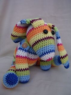 crochet bunny - no pattern, but adorable inspiration!