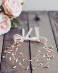 Bridal headpiece hair vine gold headpiece gold by JoannaReedBridal