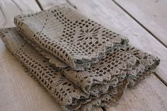 crochet - table napkins