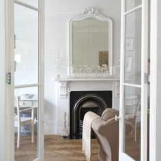 Mirror over fireplace, long vs. wide?