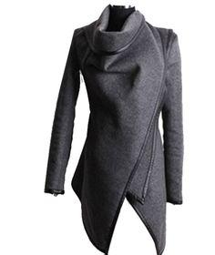 Zeagoo Fashion Women Slim Fit Woolen Coat Trench Coat Long Jacket Outwear Overcoat ((US S(2), Grey)