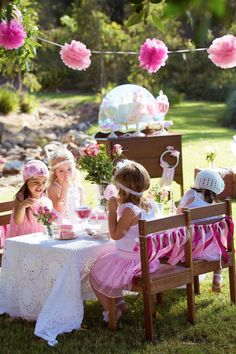 Springtime is for little girls outdoor tea party.