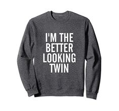 National Sibling Day Gifts Twin Brothers Funny Sweatshirts Sisters Siblings Twins Holiday Graphic Sweatshirt