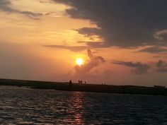 Sunset on the South Indian sea