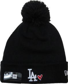 e5eaa2a45d7 LA Dodgers New Era Heart Knit Black Bobble Hat – lovemycap