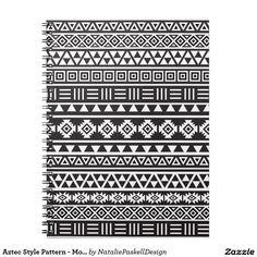Modelo azteca del estilo - monocromo libretas espirales