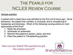 Knowing how to attack a question can be a big difference during the #NCLEX. Watch how Cindy approaches this question. BrainyNurses.com