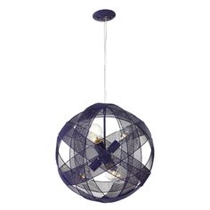 Have to have it. Varaluz At-Mesh-Sphere 6-Light Pendant - 18.5W in. Gilbert Grape $399.00