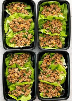 Chicken Lettuce Wraps Meal Prep P. F Chang's inspired lettuce wraps are a low carb and delicious weekly meal prep. Lunch Box Recipes, Healthy Dinner Recipes, Healthy Snacks, Healthy Eating, Clean Eating, Lunch Meal Prep, Meal Prep Bowls, Healthy Meal Prep, Keto Meal