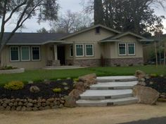 California Rambler Makeover, 1974 California Ranch home..Always wanted Craftsman style but the location was great so we ended up with this...still a work in progress - any finishing touch ideas?, Home Exterior Design