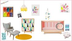 Eclectic girls nursery by Bright Interiors