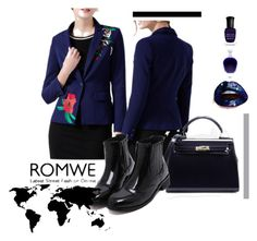 """""""Romwe #8/3"""" by s-o-polyvore ❤ liked on Polyvore featuring Deborah Lippmann"""