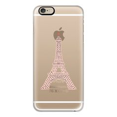 iPhone 6 Plus/6/5/5s/5c Case - TOUR EIFFEL transparent ($40) ❤ liked on Polyvore
