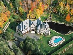 i love the pond, the creek, and all the trees Adele, Luxury Homes, Luxurious Homes, Grand Homes, Canada, Cottage, My Dream Home, Dream Homes, Rue