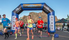 Run this fast and scenic half marathon and 10K on the roads around Smith Rock State Park in Central Oregon.