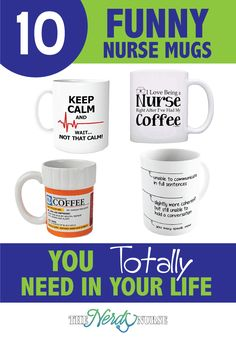 10 Funny Nurse Mugs You Totally Need In Your Life. Nurses love coffee almost as much as Gilmore Girls. Although funny nurse mugs wouldn't be suitable to sit at a nurse's station, they are perfect for home. #thenerdynurse #nurse #nurses #nursemugs #coffee #nursehumor #nursefunny Nurse Mugs, Nurse Gifts, Medical Humor, Nurse Humor, Nurse Meaning, Nurse Practitioner Gifts, Community Nursing, Nurses Station, Nursing Profession