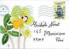 L'oeil du libraire - Les sourires de Jacqueline Duhême Letter Boxes, Mail Ideas, Mail Art, Illustration, Postcards, Stamps, Letters, Artists, Words