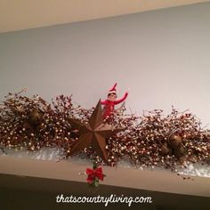 Looking for new ideas for your elf on the shelf? Check out the best list of easy Elf on the Shelf ideas. There are hundreds of ideas with pictures! Christmas Toys, All Things Christmas, Christmas Wreaths, Christmas Decorations, Xmas, Holiday Decor, Christmas Ideas, Elf Ideas Easy, Awesome Elf On The Shelf Ideas