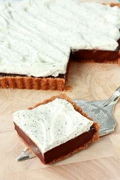 a recipe for Earl grey chocolate truffle tart with a graham cracker crumb crust