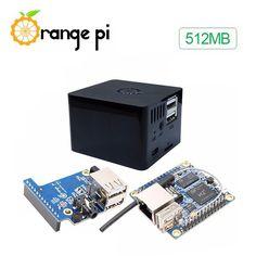 3 en 1 Naranja Pi Cero 512MB Placa de Desarrollo + Placa de Expansión + Equipo de Caso Negro