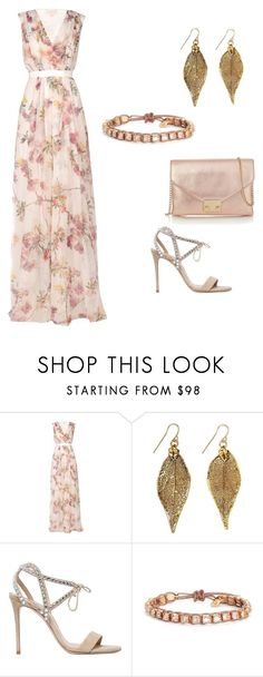 """""""Floral"""" by nicolesorensen ❤ liked on Polyvore featuring Giambattista Valli, Casadei, Tory Burch and Loeffler Randall"""