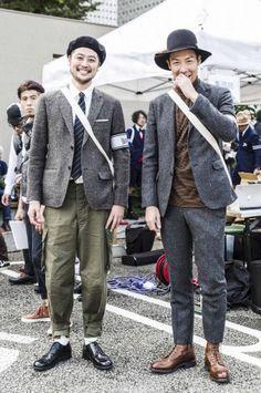 EVENT SNAP|Tweed Run Tokyo 2015/ツイードラン 東京 2015 Tokyo Fashion, Mens Fashion, Fashion Outfits, Tweed Outfit, Harris Tweed Jacket, Casual Office Wear, Tweed Run, Japanese Streetwear, Preppy Men