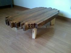 DIY Wood Working Projects: Design Pallet Coffee Table • Pallet Ideas • 1001 P...