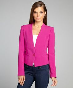 Rachel Roy begonia 1-button double crop jacket