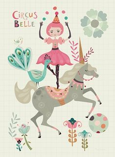 Bee Brown 'Ansichtkaart Circus Belle'
