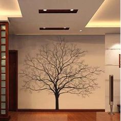 250X250CM Beautiful Big Tree Nature Vinyl Wall Paper Decal Art Sticker Q104