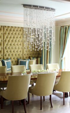 great color scheme and the tufted walls fantastic as well just all around a lovely room!