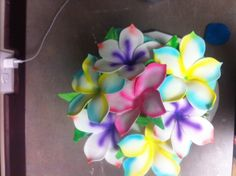 Hawaiian fondant flowers