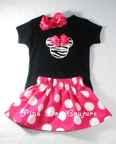 Minnie Mouse Clothes  Boutique Clothes  Toddler by PinkDotCouture, $49.95