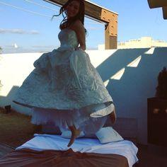 「#岡山#ウェディングドレス#bride#jump#wedding」