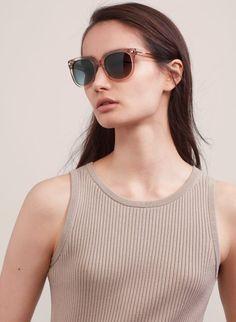ABIGAIL | Aritzia Cat Eye Sunglasses, Round Sunglasses, Ray Ban Styles, My Eyes, Eyewear, Looks Great, Stylish, Fashion, Glasses