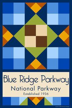 Olde America Antiques | Quilt Blocks | National Parks | Bozeman Montana : Blue Ridge Parkway - Blue Ridge Parkway Quilt Block