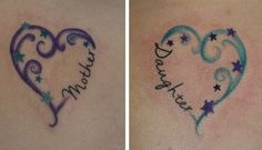 mother daughter tattoos I did